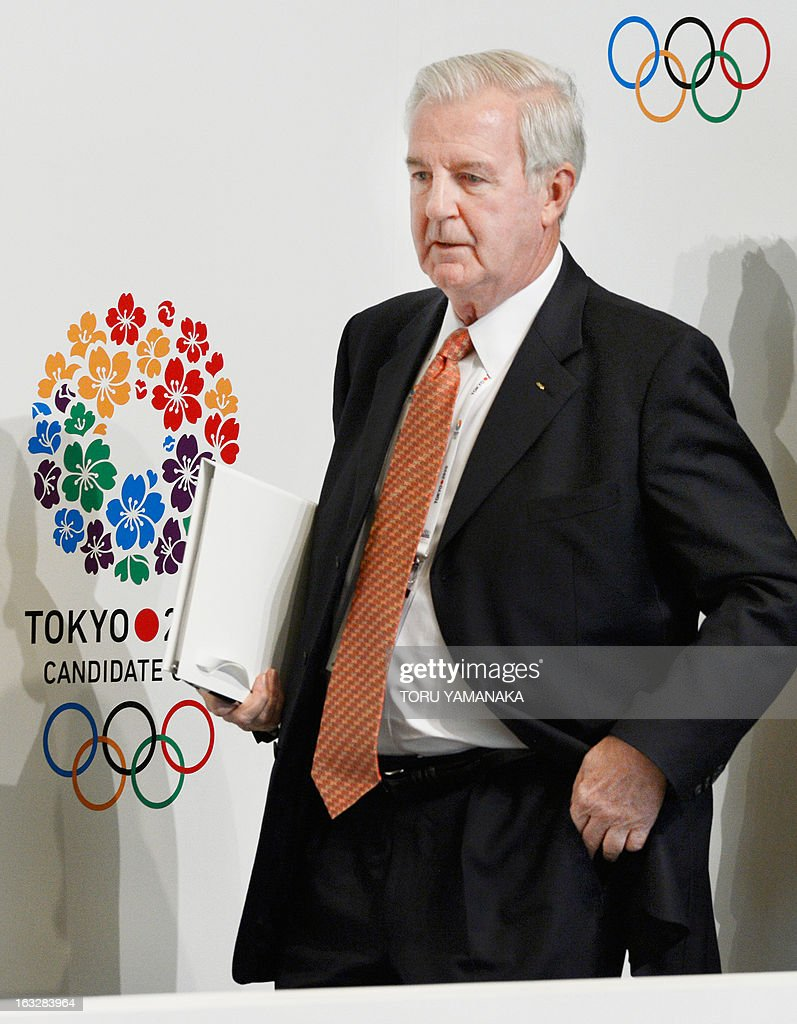 Craig Reedie, chief of the International Olympic Committee (IOC) evaluation commission attends a press conference in Tokyo on March 7, 2013. The 14-member IOC team, evaluating bids by Tokyo, Madrid and Istanbul for the event, heard presentations on security, medical services and environment on the final day of a four-day inspection tour. AFP PHOTO/Toru YAMANAKA