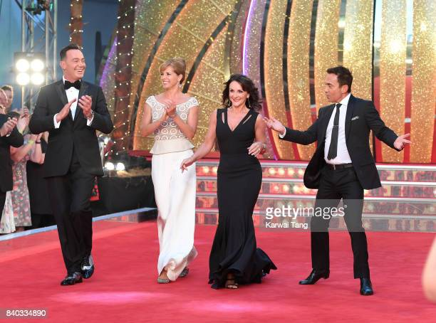 Craig RevelHorwood Darcey Bussell Shirley Ballas and Bruno Tonioli attend the 'Strictly Come Dancing 2017' red carpet launch at Broadcasting House on...