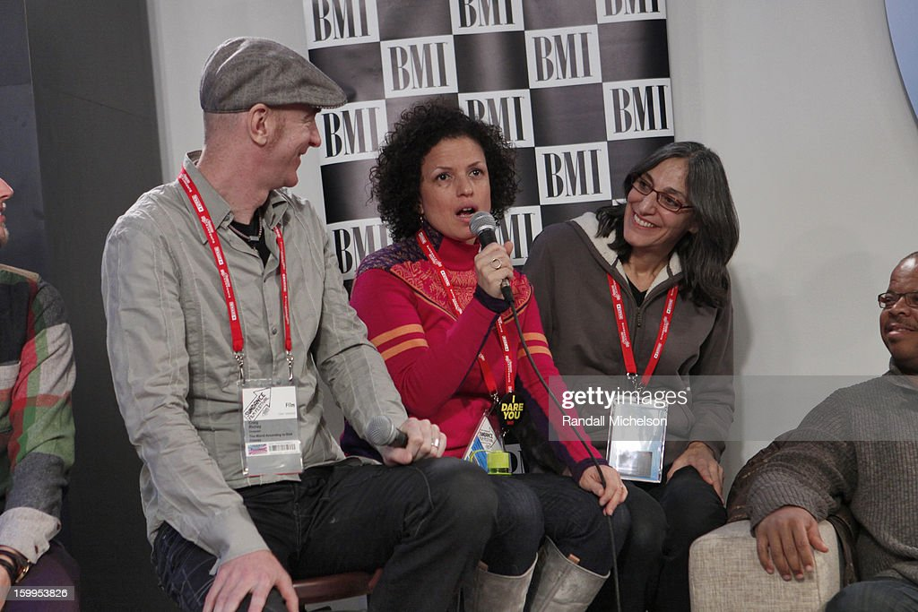 Craig Richey, Michele Stephenson and Miriam Cutler attend the BMI Roundtable at Sundance House on January 23, 2013 in Park City, Utah.