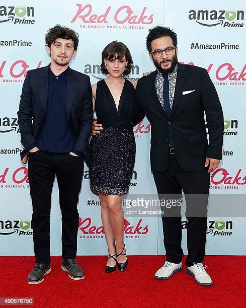 Craig Roberts Alexandra Socha and Ennis Esmer attend 'Red Oaks' series premiere at Ziegfeld Theater on September 29 2015 in New York City