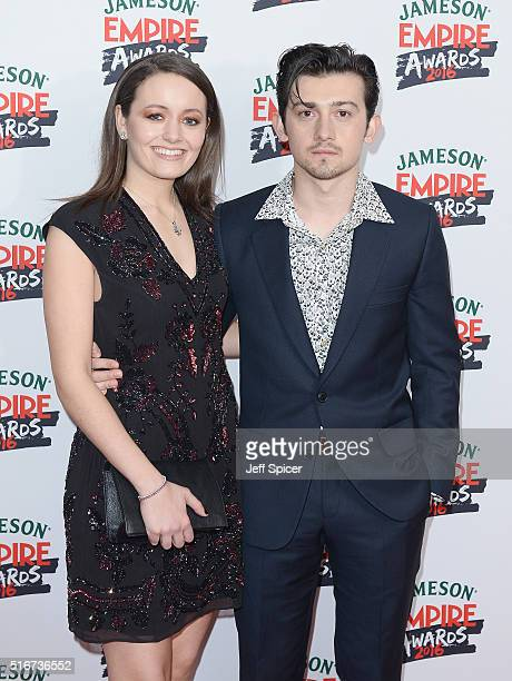 Craig Roberts and guest attend the Jameson Empire Awards 2016 at The Grosvenor House Hotel on March 20 2016 in London England