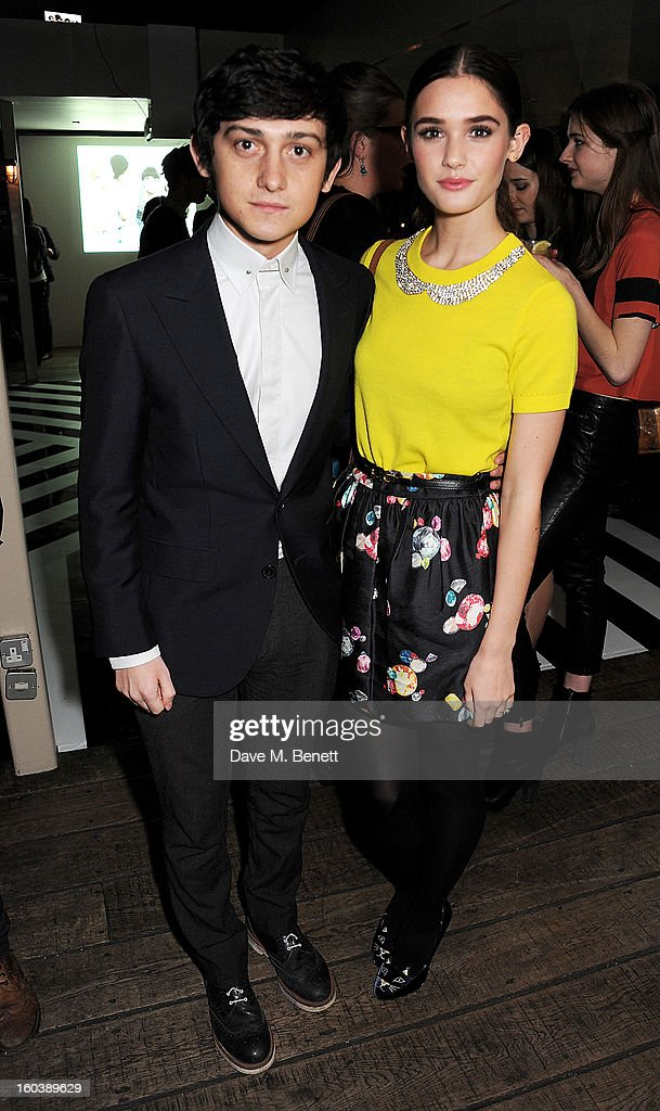 Craig Roberts (L) and Sai Bennett attend the InStyle Best Of British Talent party in association with Lancome and Avenue 32 at Shoreditch House on January 30, 2013 in London, England.