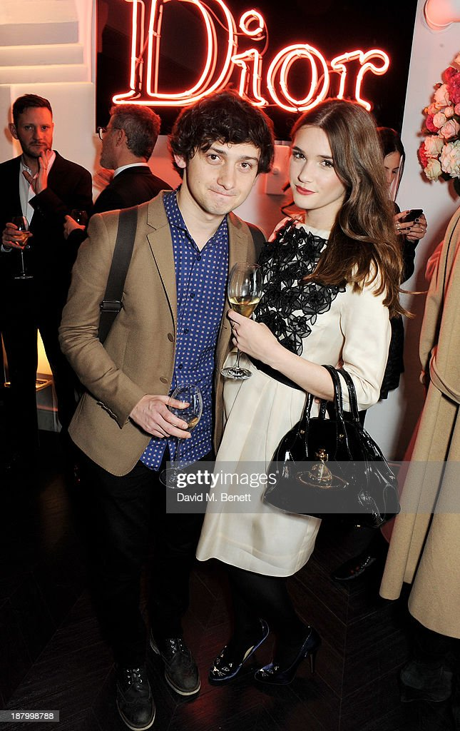 Craig Roberts (L) and Sai Bennett attend the opening of the Dior Beauty Boutique in Covent Garden on November 14, 2013 in London, England.