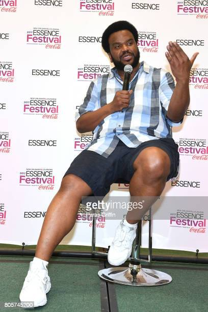 Craig Robinson speaks in the press room at the 2017 ESSENCE Festival presented by CocaCola at Ernest N Morial Convention Center on July 2 2017 in New...
