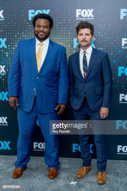 Craig Robinson with Adam Scott attends the 2017 FOX Upfront at Wollman Rink Central Park on May 15 2017 in New York City