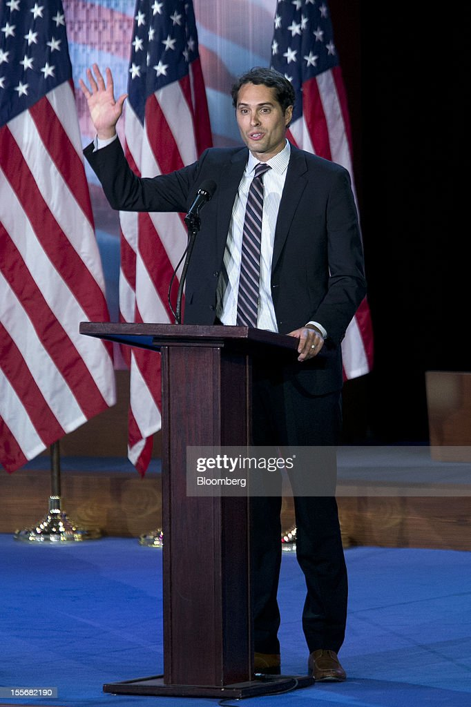 <a gi-track='captionPersonalityLinkClicked' href=/galleries/search?phrase=Craig+Romney&family=editorial&specificpeople=4453864 ng-click='$event.stopPropagation()'>Craig Romney</a>, son of Republican presidential candidate Mitt Romney, speaks during an election night rally at the Boston Convention and Exhibition Center in Boston, Massachusetts, U.S., on Tuesday, Nov. 6, 2012. President Barack Obama seeks to overcome stubborn U.S. joblessness as he vies for a second term while Republican challenger Mitt Romney is counting on upsets in battleground states to win the White House as polls closed in closely contested Virginia, Ohio and North Carolina. Photographer: Andrew Harrer/Bloomberg via Getty Images
