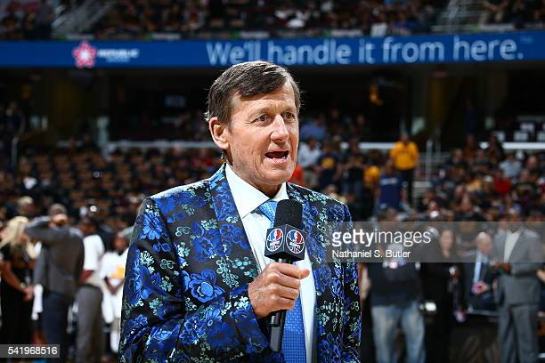 Craig Sager attends the game between the Golden State Warriors and the Cleveland Cavaliers during Game Six of the 2016 NBA Finals on June 16 2016 at...