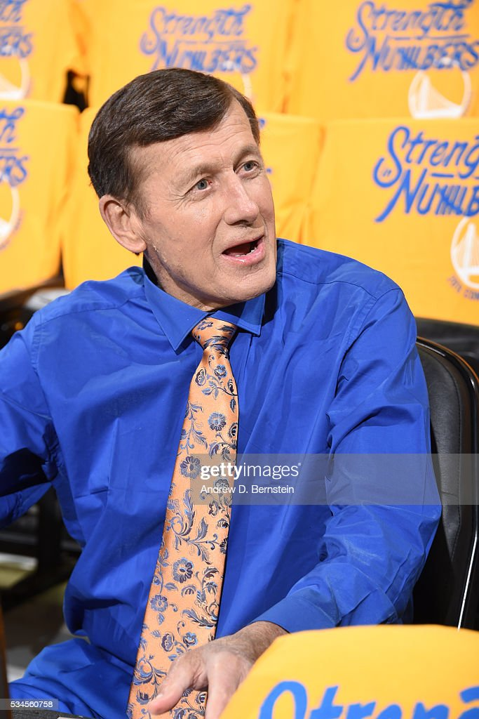 <a gi-track='captionPersonalityLinkClicked' href=/galleries/search?phrase=Craig+Sager&family=editorial&specificpeople=617407 ng-click='$event.stopPropagation()'>Craig Sager</a> looks on before the game between the Golden State Warriors and the Oklahoma City Thunder in Game Five of the Western Conference Finals during the 2016 NBA Playoffs on May 26, 2016 at ORACLE Arena in Oakland, California.