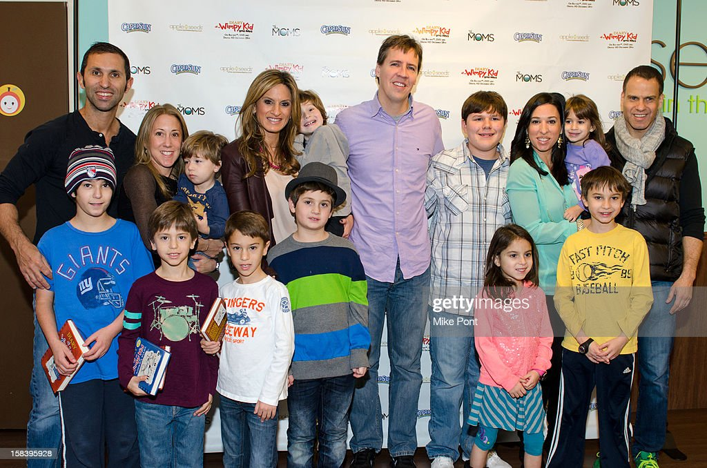 Craig Schlanger, Allison Schlanger. Denise Albert, Jeff Kinney, Robert Capron and Melissa Gerstein attend 'Diary Of A Wimpy Kid: Dog Days' DVD Release Launch Event at apple seeds on December 15, 2012 in New York City.