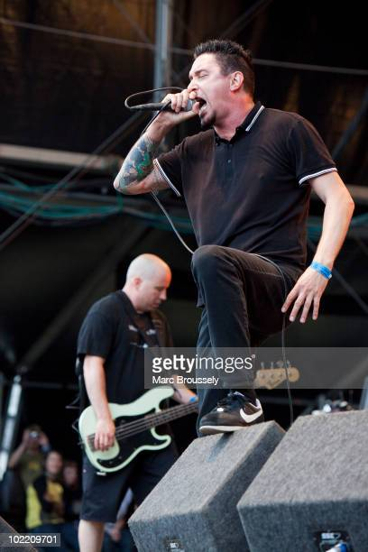 Craig Setari and Lou Koller of Sick Of It All performing on stage at Hellfest Festival on June 18 2010 in Clisson France