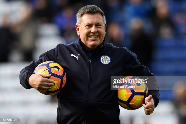 Craig Shakespeare caretaker manager of Leicester City looks on during the warm up prior to the Premier League match between Leicester City and Hull...