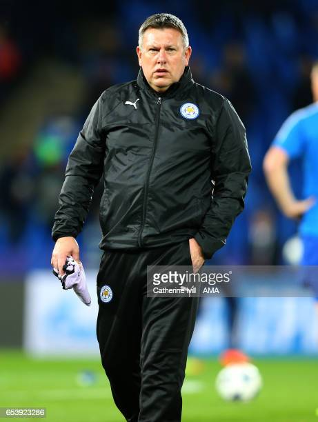 Craig Shakespeare manager of Leicester City during the UEFA Champions League Round of 16 second leg match between Leicester City and Sevilla FC at...