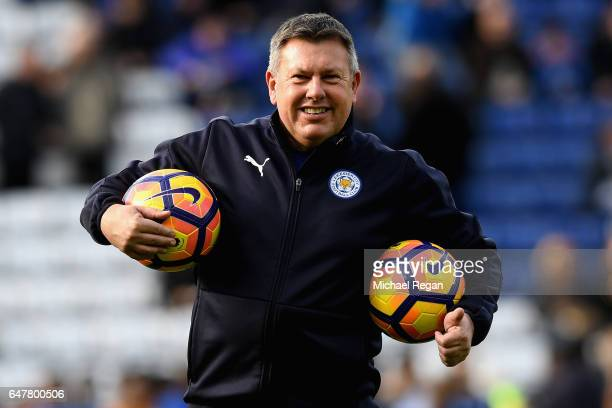 Craig Shakespeare Manager of Leicester City looks on during the warm up prior to the Premier League match between Leicester City and Hull City at The...