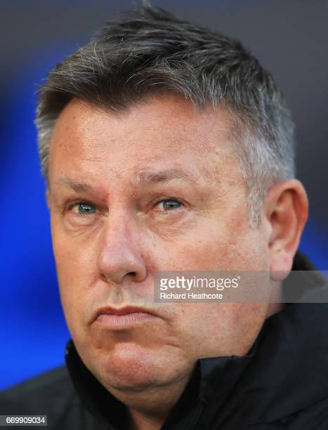 Craig Shakespeare manager of Leicester City looks on prior to the UEFA Champions League Quarter Final second leg match between Leicester City and...