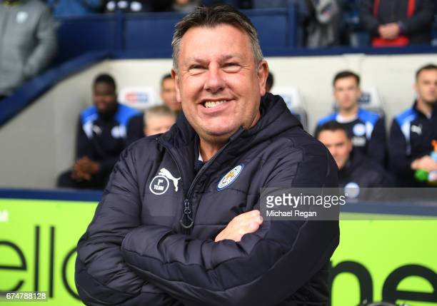 Craig Shakespeare Manager of Leicester City smiles during the Premier League match between West Bromwich Albion and Leicester City at The Hawthorns...