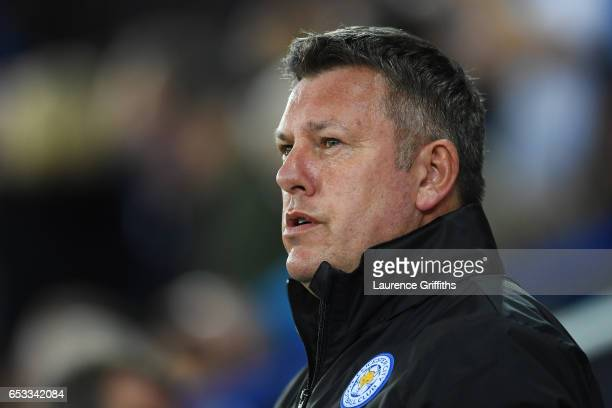 Craig Shakespeare the interim Manager of Leicester City looks on during the UEFA Champions League Round of 16 second leg match between Leicester City...