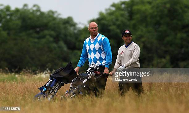 Craig Shave of Whetstone Golf Club and Matthew Cort of Rothley Park Golf Club walk down the 6th fairway during the Skins PGA Fourball championship...
