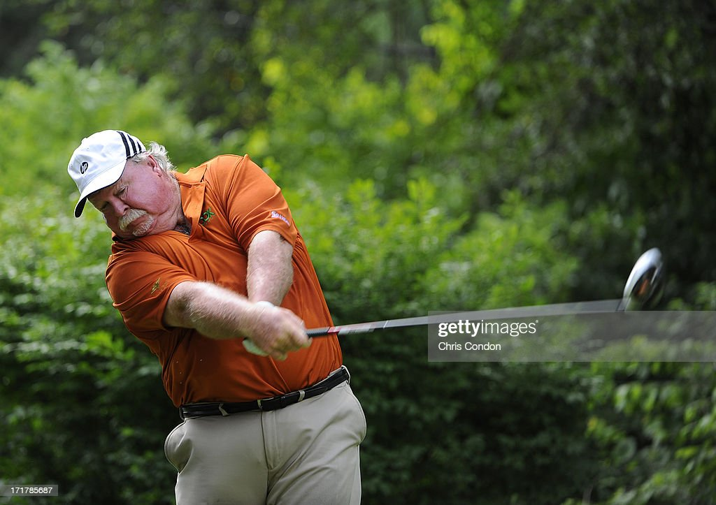 <a gi-track='captionPersonalityLinkClicked' href=/galleries/search?phrase=Craig+Stadler&family=editorial&specificpeople=211286 ng-click='$event.stopPropagation()'>Craig Stadler</a> hits from the second tee during the second round of the Constellation SENIOR PLAYERS Championship at Fox Chapel Golf Club on June 28, 2013 in Pittsburgh, Pennsylvania.