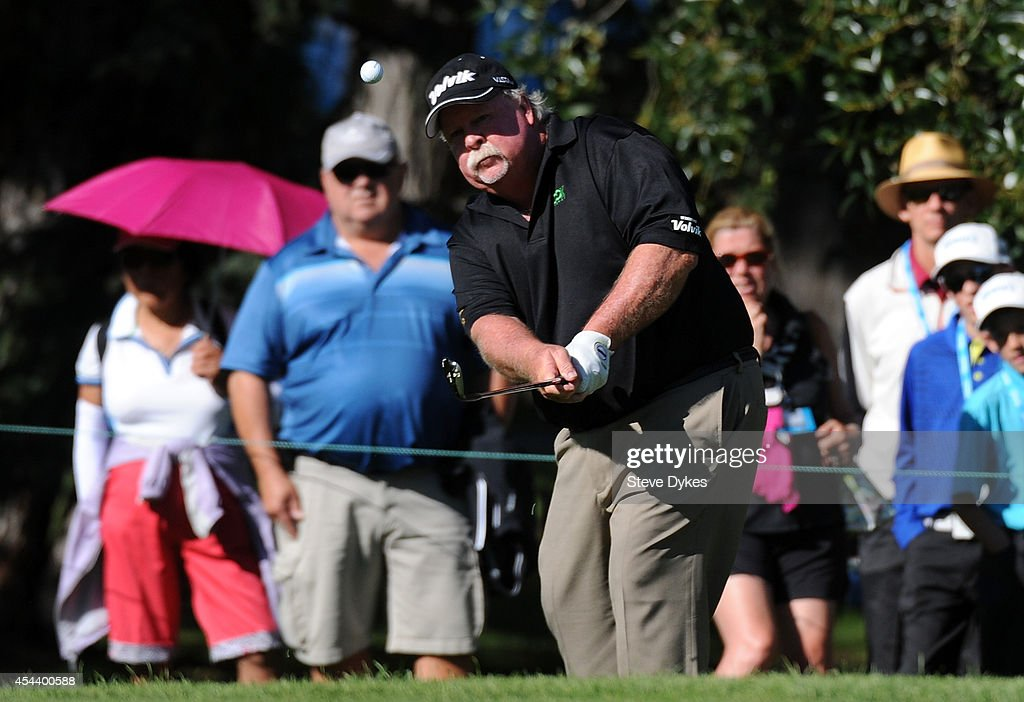 <a gi-track='captionPersonalityLinkClicked' href=/galleries/search?phrase=Craig+Stadler&family=editorial&specificpeople=211286 ng-click='$event.stopPropagation()'>Craig Stadler</a> hits his birdie chip attempt on the 17th hole during the second round of the Shaw Charity Classic at the Canyon Meadows Golf and Country Club on August 30, 2014 in Calgary, Canada.