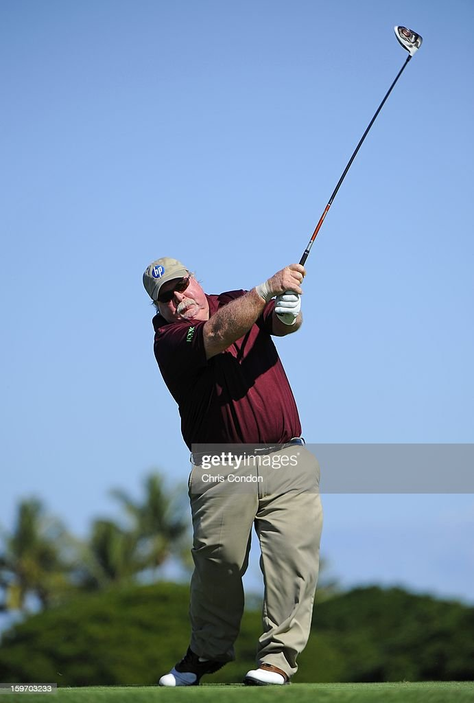 KA'UPULEHU-KONA, HI - JANUARY 18: Craig Stadler plays from the second tee during the first round of the Mitsubishi Electric Championship at Hualalai Golf Club on January 18, 2013 in Ka'upulehu-Kona, Hawaii.