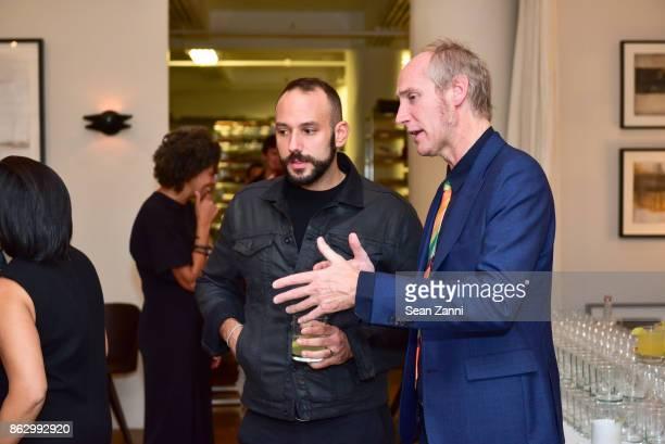 Craig Strulovitz and Tom Faulkner attend Tom Faulkner at Angela Brown Ltd on October 18 2017 in New York City