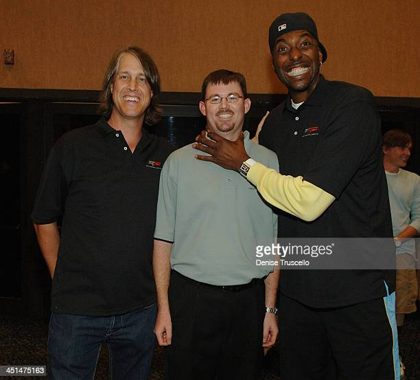 Craig Thole Principal WCOFF Owner Dustin Ashby and professional basketball John Salley attend the 2008 World Championship of Fantacy Football...