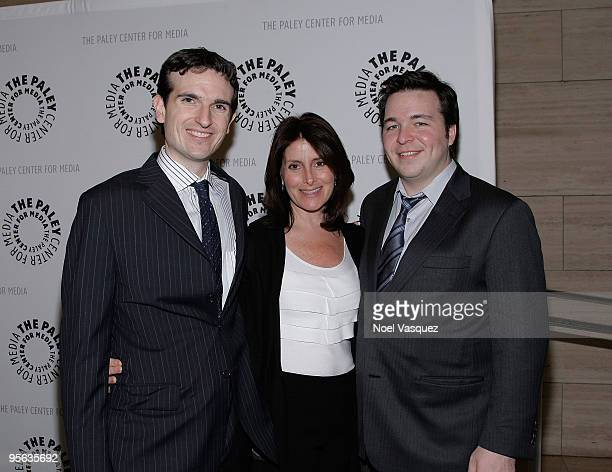 Craig Thomas Pamela Fryman and Carter Bays attends the 'How I Met Your Mother' 100th episode party at The Paley Center for Media on January 7 2010 in...
