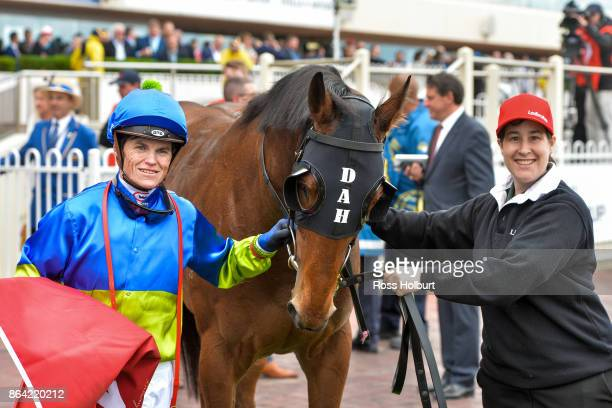 Craig Williams after riding Fuhryk to win the Carlton Draught Alinghi Stakes at Caulfield Racecourse on October 21 2017 in Caulfield Australia