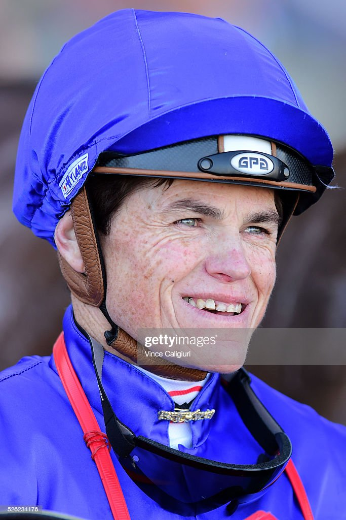 Craig Williams after riding Tarquin to win Race 2 during Melbourne Racing at Caulfield Racecourse on April 30, 2016 in Melbourne, Australia.
