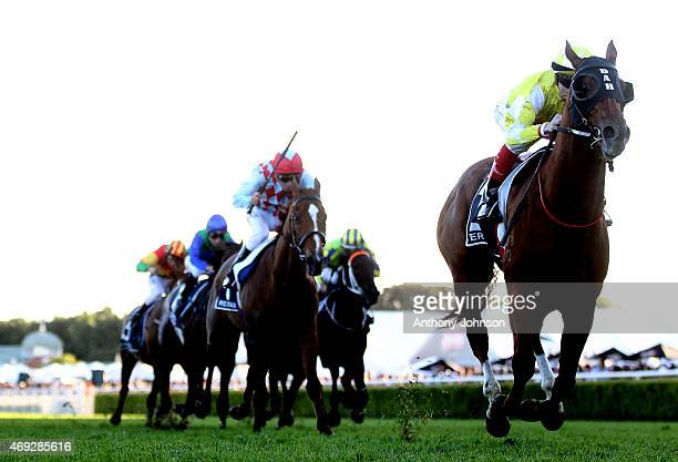 Craig Williams rides Criterion to win race 9 The Queen Elizabeth Stakes during The Championships at Royal Randwick Racecourse on April 11 2015 in...