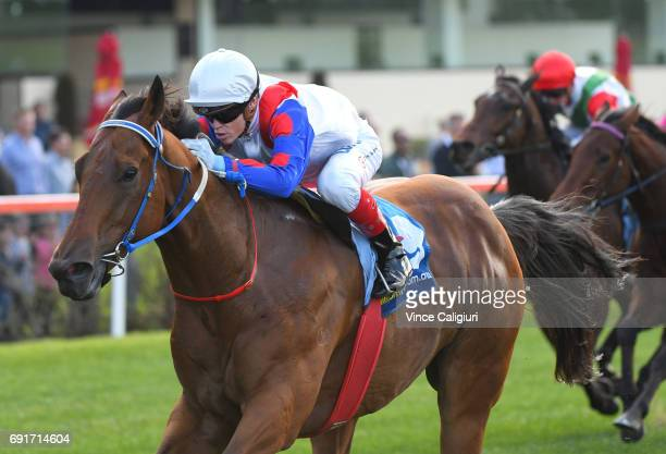 Craig Williams riding Ability winning Rcae 3 during Melbourne Racing at Moonee Valley Racecourse on June 3 2017 in Melbourne Australia