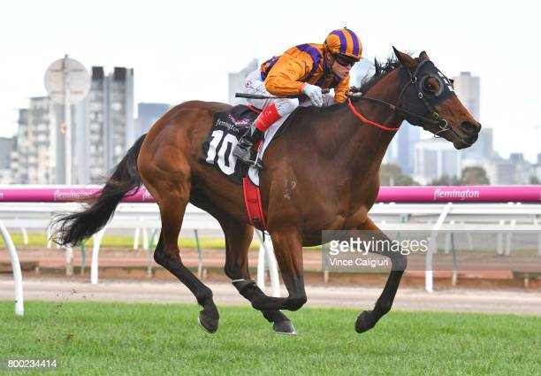 Craig Williams riding Charlevoix wins Race 5 during Melbourne Racing at Flemington Racecourse on June 24 2017 in Melbourne Australia