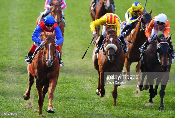 Craig Williams riding Magic Consol winning Race 5 during Melbourne Racing at Moonee Valley Racecourse on June 3 2017 in Melbourne Australia