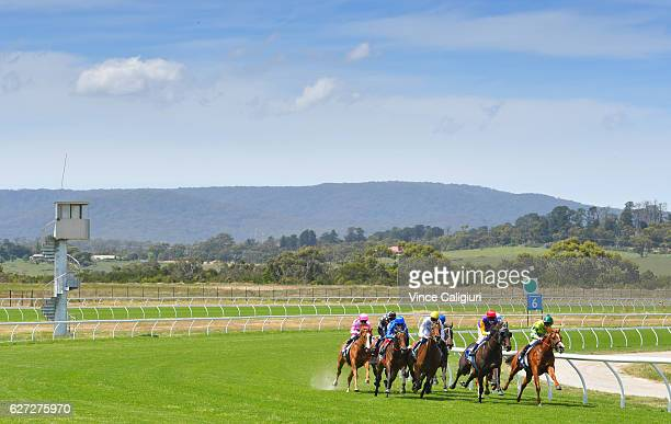 Craig Williams riding Maternal winning Race 4 during Melbourne racing at Racingcom Park on December 3 2016 in Pakenham Australia