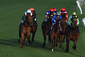 Craig Williams riding Miss Idyllic winning Race 1 during Manikato Stakes Night at Moonee Valley Racecourse on October 23 2015 in Melbourne Australia