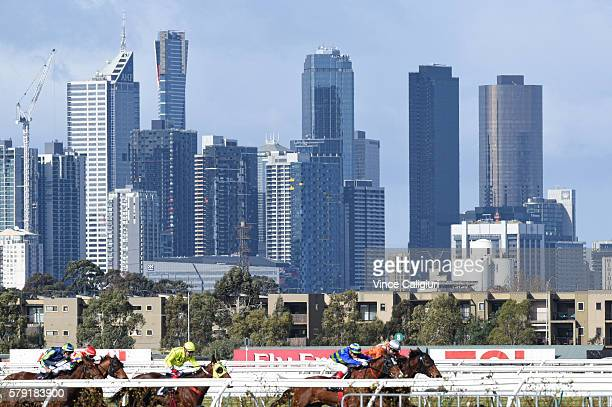 Craig Williams riding Name The Day races to win Race 3 during Melbourne Racing at Flemington Racecourse on July 23 2016 in Melbourne Australia
