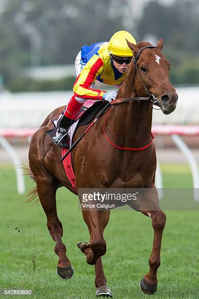 Craig Williams riding Spieth wins Race 4 during Melbourne Racing at Flemington Racecourse on June 25 2016 in Melbourne Australia