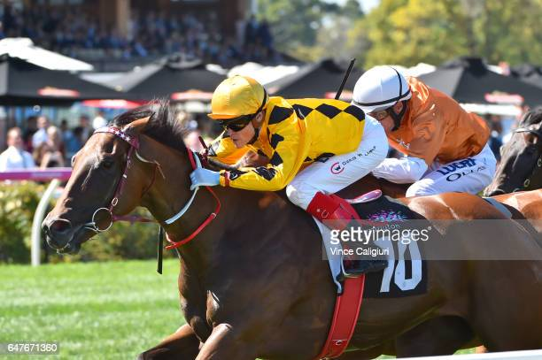 Craig Williams riding Turbo Miss wins Race 5 during Melbourne Racing at Flemington Racecourse on March 4 2017 in Melbourne Australia