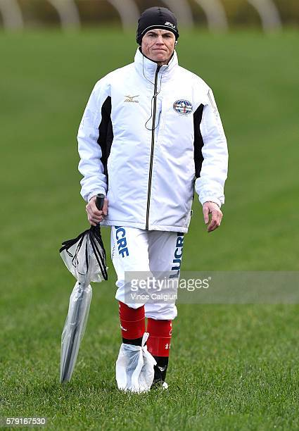 Craig Williams walks the track during Melbourne Racing at Flemington Racecourse on July 23 2016 in Melbourne Australia