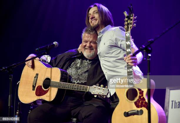Craig Wiseman and Brad Warren of The Warren Brothers perform during the 13th Annual Stars for Second Harvest benefit at Ryman Auditorium on June 6...