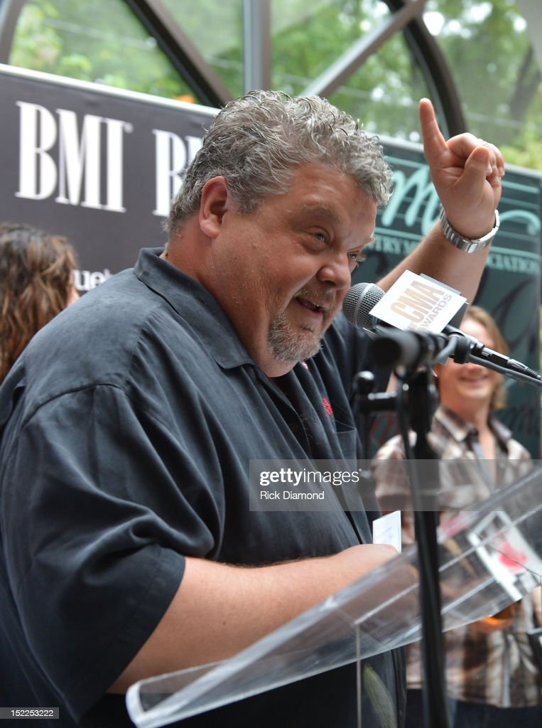 <a gi-track='captionPersonalityLinkClicked' href=/galleries/search?phrase=Craig+Wiseman&family=editorial&specificpeople=619580 ng-click='$event.stopPropagation()'>Craig Wiseman</a> - Big Red Toe Music addresses the crowd during the BMI, ASCAP & CMA # 1 Party For 'Drunk On You' Performed By Luke Bryan (BMI) Co-Writers Rodney Clawson (BMI) Josh Kerr (ASCAP) and Chris Thompkins (ASCAP) at CMA Office on September 17, 2012 in Nashville, Tennessee.