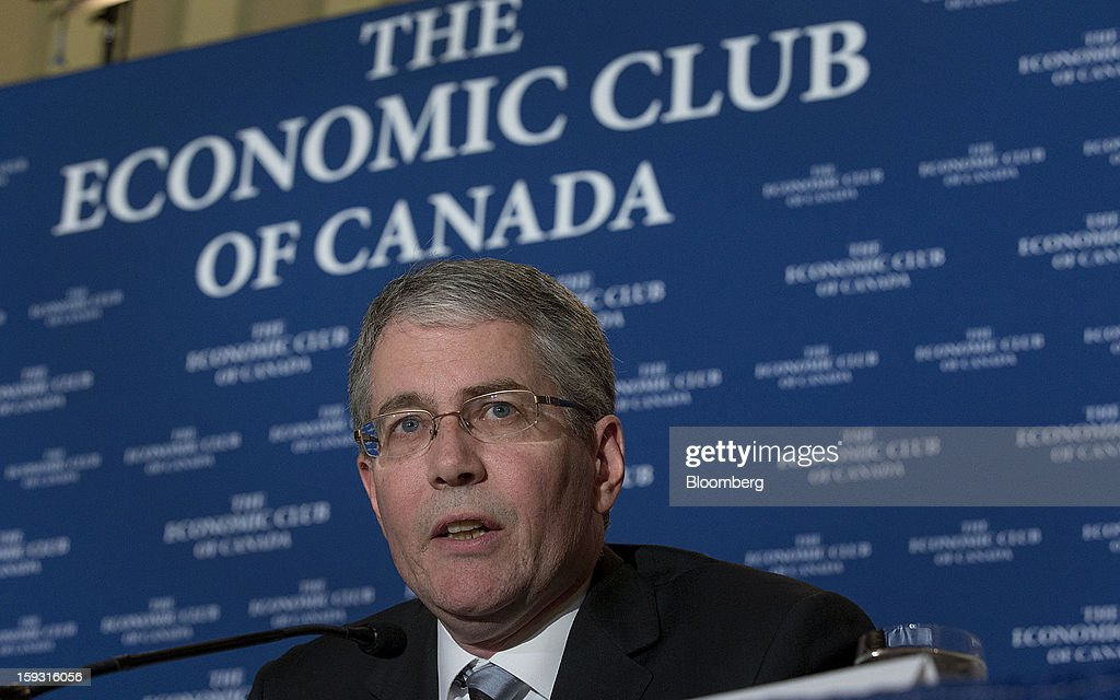 Craig Wright, chief economist of RBC Financial Group, speaks at the Economic Club of Canada's 2013 Annual Economic Outlook breakfast in Toronto, Ontario, Canada, on Friday, Jan. 11, 2013. Canada's dollar fell from the strongest in three months versus its U.S peer as the nation's trade deficit widened to the fourth-largest on record, suggesting the economy is struggling to emerge from an export-driven slump. Photographer: Norm Betts/Bloomberg via Getty Images
