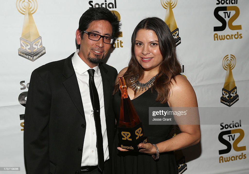 Craig Yahata and Gladys Rodriguez attend the 2nd Annual Social TV Awards at Bel-Air Country Club on July 16, 2013 in Los Angeles, California.