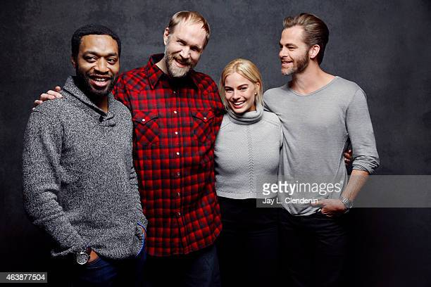 Craig Zobel Chiwetel Ejiofor Chris Pine and Margot Robbie from 'Z for Zachariah' pose for a portrait for the Los Angeles Times at the 2015 Sundance...