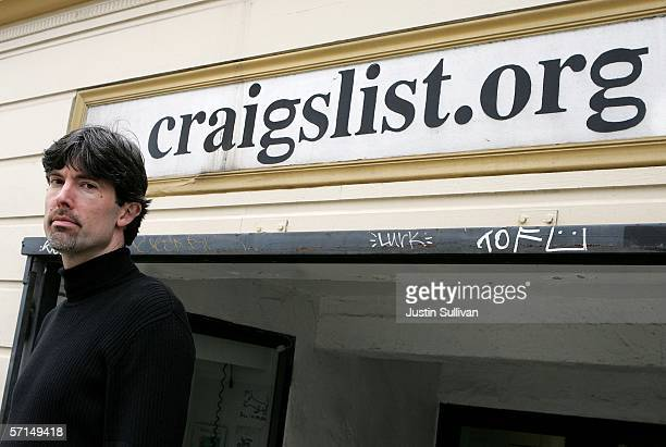 Craigslist CEO Jim Buckmaster poses in front of the Craigslist office March 21 2006 in San Francisco California Craig Newmark a former computer...