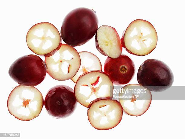 Cranberries, whole and sliced