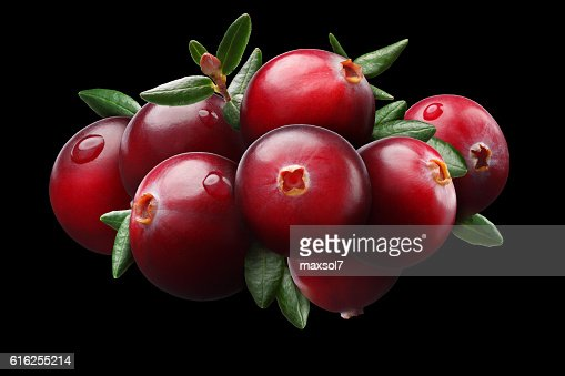 Cranberry composition, clipping paths : Foto de stock