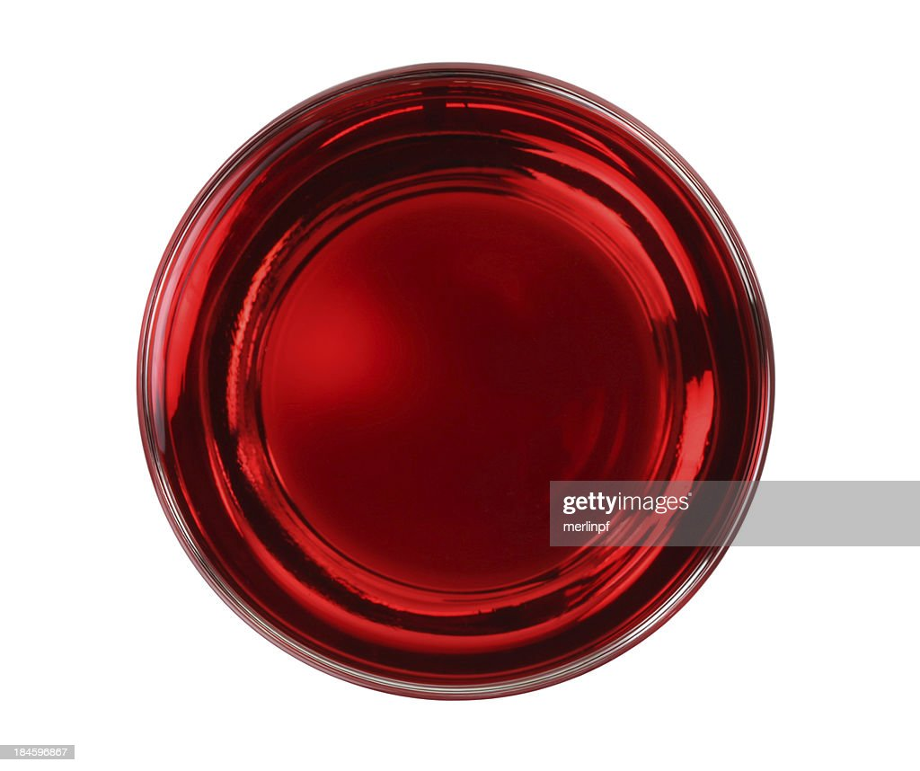 cranberry juice glass top isolated