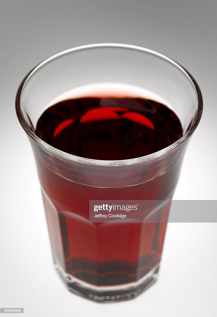 Cranberry juice in glass