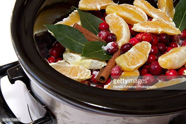 Cranberry Sauce simmering in a Crock Pot